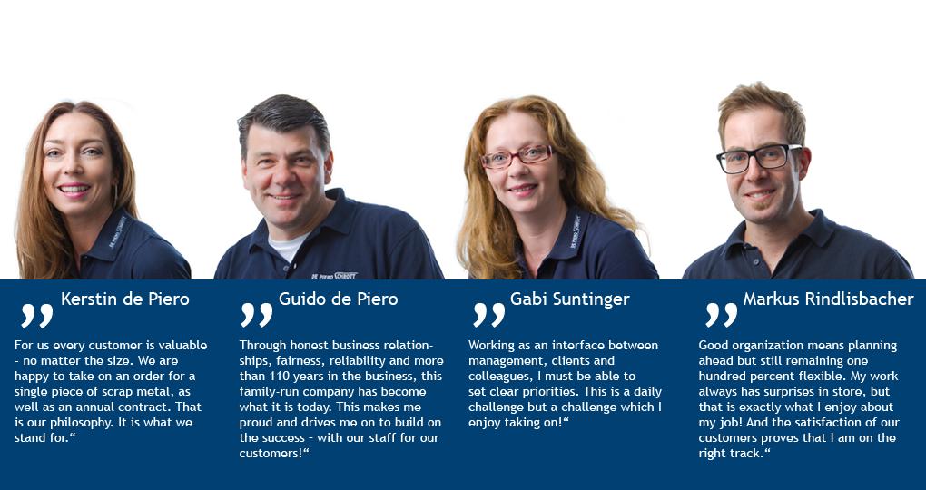 De Piero Schrott – Team